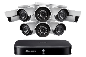 Lorex 8 Channel Security DVR System 2TB Hard Drive and 130ft Night Vision  Eight(8) 1080p Cameras