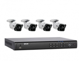 Flir DNR408P2P_4-N243BW2 1080p PoE Home Security Camera System with 8Ch 2TB NVR and (4) 1080p HD Outdoor Bullet IP Cameras, Night Vision, Vandal-Resistant, Motion Detection, Email Alert, (Without 100ft Cat5e Cable)