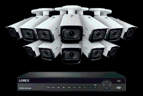 Lorex NC4K3MV-1612WB 4K Nocturnal IP NVR System with 16 Channel 3TB NVR, Twelve 4K (8MP) Smart IP Motorized 4x Optical Zoom Security Bullet Cameras w/ Real-Time 30FPS,150ft IR Night Vision, CNV
