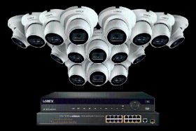 Lorex 32 Channel 8TB 4K Nocturnal NVR System with 4K Smart IP Dome Cameras w/ Real-Time 30FPS and Listen-in Audio, 16 Ch PoE Switch, 150ft Night Vision, Color Night Vision