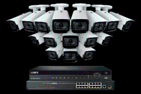 Lorex 4K Nocturnal IP NVR System with 32 Channel 8TB NVR, 4K (8MP) Smart IP Motorized 4x Optical Zoom Security Bullet Cameras w/ Real-Time 30FPS,150ft IR Night Vision, CNV