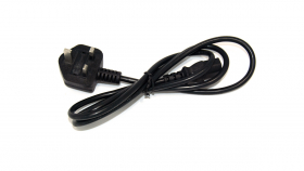 Chargio UK Power Cord for PC, Monitor, Printer. UK BS1363 to IEC60320 C13, 4.5ft, black