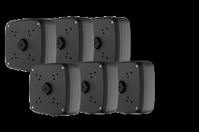 Lorex ACJNCD4BKB Outdoor Junction Box for 4 Screw Base Cameras (Black) (6-Pack)