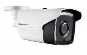 Hikvision DS-2CE16H1T-IT3 5MP HD EXIR Bullet Camera, HD-TVI, up to 65ft EXIR, Day/Night, DWDR, Smart IR, IP67, 12 VDC, White, 2.8mm Lens Kit