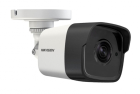 Hikvision DS-2CE16F7T-IT 3MP Analog TurboHD 3M Outdoor Bullet Camera, HD-TVI, 66ft(20m) EXIR, Day/Night, True WDR, Smart IR, IP66, 12 VDC, White