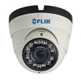 FLIR Digimerge DNE14TL2  Varifocal IR Security Dome IP Camera, 2.1MP HD IP Camera, 3.3-12mm Varifocal Lens, 100ft Night Vision, Works with Onvif, Lorex, Flir NVR, Camera Only, White (USED)