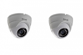 FLIR Digimerge C133ED Outdoor 4-in-1 Security Dome Camera, 2.1MP HD MPX  Fixed ,3.6mm, 70ft Night Vision, Works with AHD/CVI/TVI/CVBS/Lorex, Flir MPX DVR, White, 2 Pack (Camera Only)