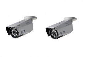 FLIR Digimerge C233BC Outdoor 4-in-1 Security Bullet Camera, 1.3MP HD Fixed WDR MPX, 3.6mm, 70ft Night Vision, Works with AHD/CVI/TVI/CVBS/Lorex, Flir MPX DVR, White, 2 Pack (Camera Only)