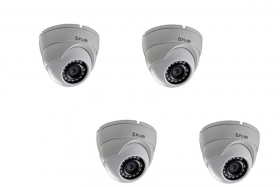 FLIR Digimerge C133ED Outdoor 4-in-1 Security Dome Camera, 2.1MP HD MPX  Fixed ,3.6mm, 70ft Night Vision, Works with AHD/CVI/TVI/CVBS/Lorex, Flir MPX DVR, White, 4 Pack (Camera Only)