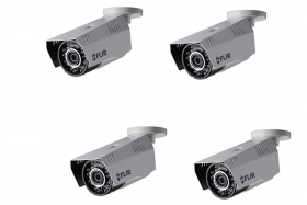 FLIR Digimerge C233BC Outdoor 4-in-1 Security Bullet Camera, 1.3MP HD Fixed WDR MPX, 3.6mm, 70ft Night Vision, Works with AHD/CVI/TVI/CVBS/Lorex, Flir MPX DVR, White, 4 Pack (Camera Only)
