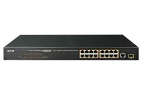16-Channel PoE+ Switch