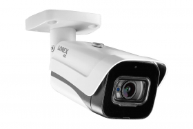 Lorex C861MB Indoor/Outdoor 4K Ultra HD Analog Metal Security Bullet Camera, 2.8mm, 135ft IR Night Vision, Color Night Vision, Audio, Works with D841/D841B, DV900, LHV5100/W Series,Camera Only, White (M. Refurbished)