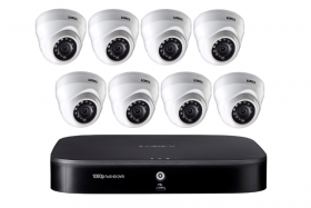 Lorex 8 Channel 1TB Analog 1080p HD Security DVR Security System with 8 1080p HD Analog MPX Security Dome Cameras, 130ft Night Vision, Advanced Motion Detection, Smart Home Compatibility