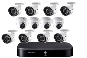 Lorex 16 Channel 2TB Analog HD Security DVR Security System with 8 1080p 1080p HD Analog MPX Security Bullet and 4 1080p HD Analog MPX Security Dome Cameras, 130ft Night Vision, Advanced Motion Detection, Smart Home Compatibility