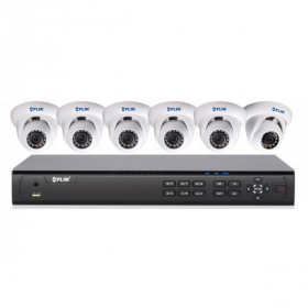 FLIR Digimerge DN308P2E6 1080p PoE IP Home Security System with 8 Ch 8 Port 2TB NVR and 6xDNE12TL2 1080p HD Outdoor Dome IP Cameras, 62ft Night Vision, Motion Detection