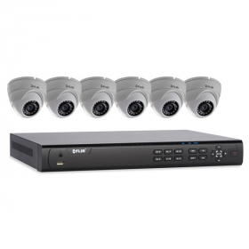 FLIR Digimerge DN408P2E6 Full HD PoE IP NVR Home Security System with 8 Ch 8 Port 2TB NVR and 6xN133ED 2.1MP HD Outdoor Dome IP Cameras, 70ft Night Vision, Motion Detection