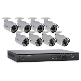 FLIR Digimerge DN416P28 1080p PoE IP Home Security System with 16 Ch 8 Port 2TB NVR and 8xDNB23TF2 2.1MP HD Outdoor Bullet IP Cameras, 70ft Night Vision, Motion Detection