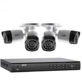 Lorex 4 Camera MPX Home Security Camera System with Flir 4 Channel 2TB DVR and (4) Full HD 1080p Lorex MPX Bullet Camera, 130ft Night Vision, 1TB, Remote View with Flir Cloud App