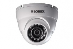 Lorex LEV1522B 720p HD Analog Security Dome Camera, 3.6mm,130ft IR Night Vision, Works with DV800/900,LHV0000/1000/2000/5100,D241/441,White(OPEN BOX)