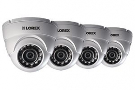 720P HD Weatherproof Night Vision Security Dome Camera (4-Pack)