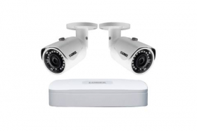 Lorex 4K Ultra HD IP NR810 Series NVR System with 2K LNE41723B IP Dome Cameras Package, 130FT Color Night Vision