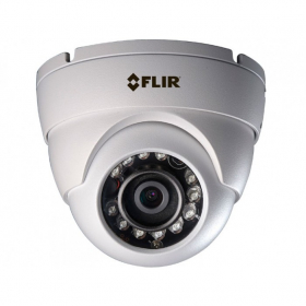 FLIR Digimerge ME313 Outdoor 4-in-1 Security Dome Camera, 1MP HD Fixed MPX, 3.6mm, 90ft Night Vision, Works with AHD/CVI/TVI/CVBS/Lorex, Flir MPX DVR, White (Camera Only)