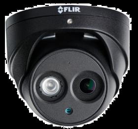 FLIR Digimerge N253EA8BK Outdoor IP Security Dome Camera, 4K Ultra HD WDR Fixed IP, 2.8mm, 82ft Night Vision, Audio, Works with Onvif, Lorex, Flir NVR, Camera Only, Black (USED)