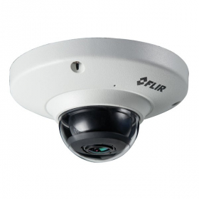 FLIR Digimerge N258F5 Outdoor IP Security Fisheye Dome Camera, 5MP HD IP, 1.4mm, Compatible with DNR700, DNR724, DNR800 and Lorex NR800,NR900 series NVRs, White (Camera Only)