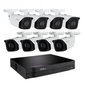 8 CHANNEL 4K NVR SYSTEM WITH (8) 4K IP BULLET CAMERAS AND 2TB HDD