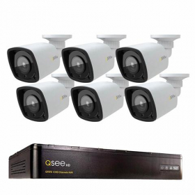 8 CHANNEL 4K NVR SYSTEM WITH (6) 1080P COLOR NIGHT VISION BULLET CAMERAS AND 2TB HDD