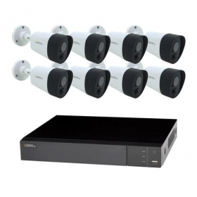 8 CHANNEL 5MP MULTI FORMAT DVR SYSTEM WITH (8) 5MP PIR BULLET CAMERAS AND 2TB HDD