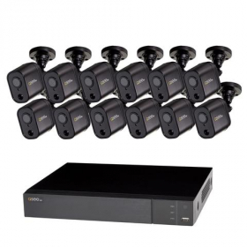 16 CHANNEL 1080P MULTI FORMAT DVR SYSTEM WITH (12) 1080P PIR BULLET CAMERAS AND 2TB HDD