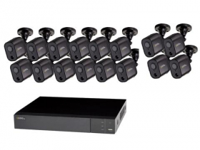 16 CHANNEL 1080P MULTI FORMAT DVR SYSTEM WITH (16) 1080P PIR BULLET CAMERAS AND 2TB HDD
