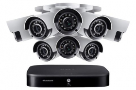 Lorex 4KA88 4K Ultra HD 8-Channel Security System with Eight 4K (8MP) Cameras, Advanced Motion Detection and Smart Home Voice Control