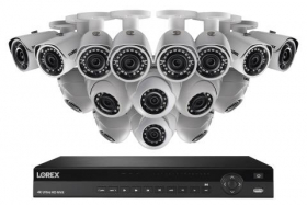 2K IP Security Camera System with 16 Channel NVR and 16 HD Outdoor 4MP HD IP Cameras
