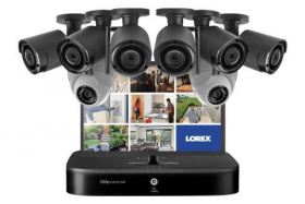 Lorex LW1662MDW Security System with 6 Wireless Cameras, 2 Domes and Monitor