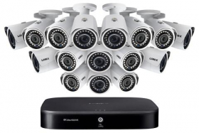 1080p Camera System with 16-Channel 4K DVR and Sixteen 1080p HD Metal Outdoor Cameras, 150FT Night Vision