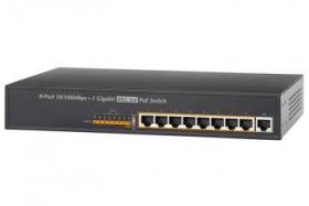 Lorex ACCLPS281B 8-Channel PoE Switch (M. Refurbished)