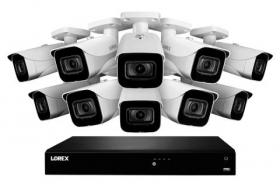 Lorex 4KHDIP1610 4K Ultra HD IP 16-Channel NVR System with 10 Outdoor 4K (8MP) IP Cameras, 130FT Night Vision, 3TB Hard Drive, Smart Motion Detection and Smart Home Voice Control