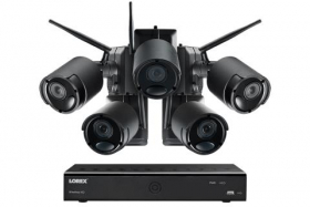 1080p Wire Free Camera System with Five Battery Powered Metal Cameras, 65ft Night Vision, Two-Way Audio, and a 1TB Hard Drive (Extra 3-cell Battery Included)