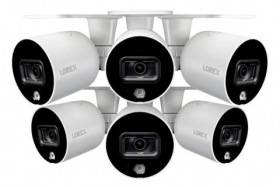 Smart Outdoor WiFi Security Camera With Advanced Active Deterrence (6-pack)