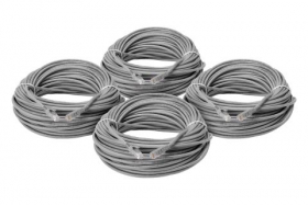 Lorex CBL200C5RUW-4PK 200 foot CAT5e Extension Cables, Fire Resistant and In-Wall Rated, CMR type (Riser) (4-pack)