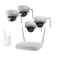 With (4) Wi-Fi Domes Cameras and Wi-Fi Extender