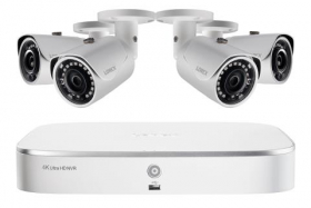 Lorex LN1081-44 2K HD 8-Channel IP Security System with Four 5MP Cameras and Smart Home Voice Control