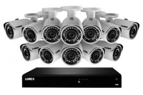 2K IP Security Camera System with 16 Channel NVR and 12 Outdoor 2K 5MP IP Cameras, Color Night Vision