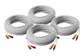 High performance security camera cables - 4 × 60FT  BNC (video/power) in-wall and fire rated cables
