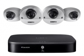 1080p HD Surveillance System featuring 4 Audio Cameras with 90ft Night Vision