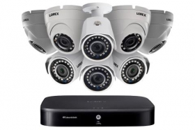 Lorex 2KA88BD 2K Super HD 8-Channel Security System DVR with Eight 2K (5MP) Cameras(4 dome,4 bullet),2TB HDD, 120ft Night Vision, Color NV, Advanced Motion Detection and Smart Home Voice Control