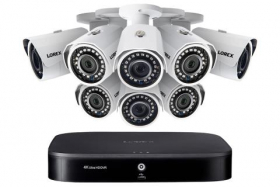Lorex 2KA88 2K Super HD 8-Channel Security System with Eight 2K (5MP) Cameras, Advanced Motion Detection and Smart Home Voice Control