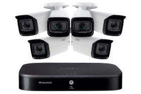 Lorex MPX84VW 4K Ultra HD Home Surveillance System with 6 Motorized Varifocal 4x Optical Zoom Lens Security Cameras